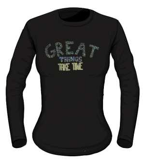 Great things longsleeve czarny