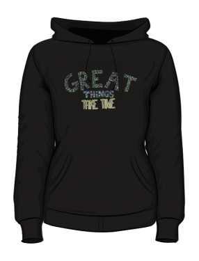 Great things bluza z kapturem czarna