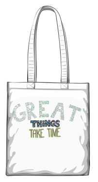 Great things torba biała