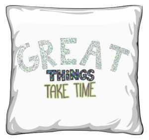 Great things poduszka biała
