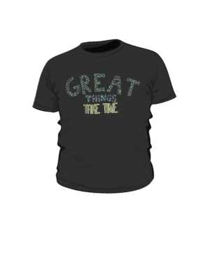 Great things koszulka dla dzieci czarna