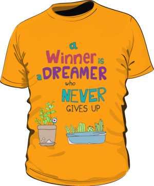 Winner dreamer koszulka P pomarańcz