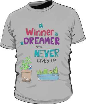 Winner dreamer koszulka P szara