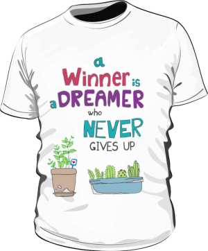 Winner dreamer koszulka P biała
