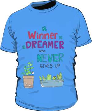 Winner dreamer koszulka basic niebieska