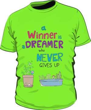 Winner dreamer koszulka basic trawiasta