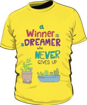 Winner dreamer koszulka basic żółta