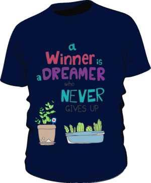 Winner dreamer koszulka basic granatowa