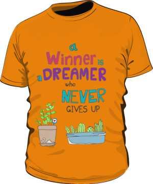 Winner dreamer koszulka basic pomarańcz