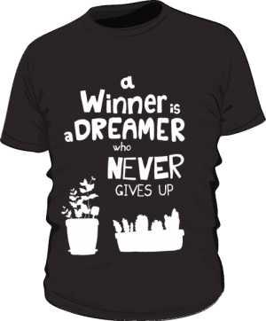 Winner dreamer koszulka basic czarna