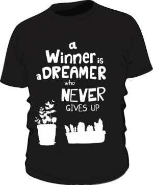 Winner dreamer koszulka premium czarna