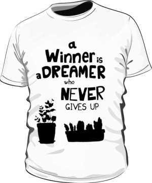 Winner dreamer koszulka premium biała