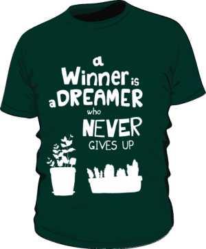 Winner dreamer koszulka premium zieleń