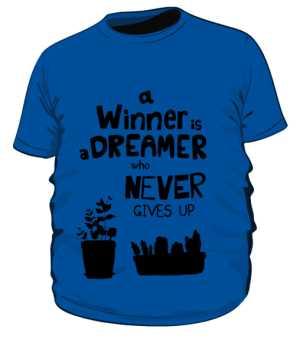 Winner dreamer koszulka plus granat