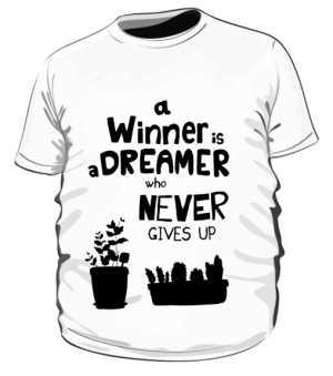 Winner dreamer koszulka plus biały