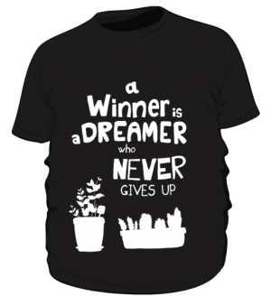 Winner dreamer koszulka plus czarny