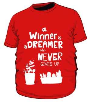 Winner dreamer koszulka plus czerwony