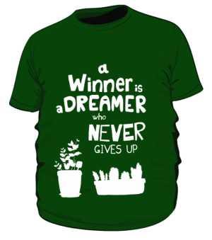 Winner dreamer koszulka plus zielony