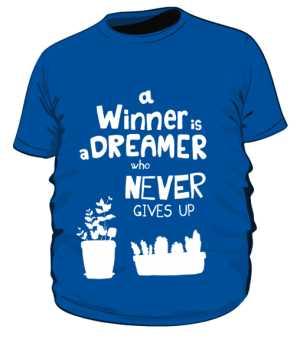 Winner dreamer koszulka plus niebieski