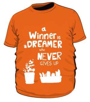 Winner dreamer koszulka plus pom