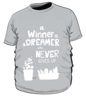 Winner dreamer koszulka plus szara