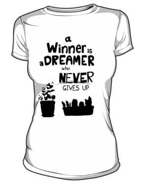Winner dreamer koszulka basic biała