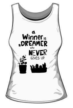 Winner dreamer top biały