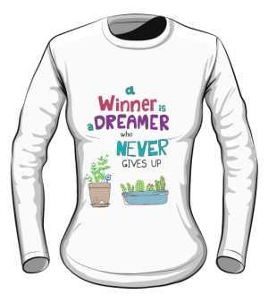 Winner dreamer longsleeve biały