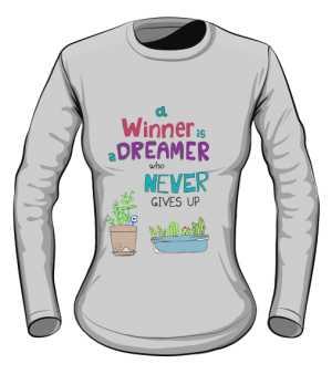Winner dreamer longsleeve szary