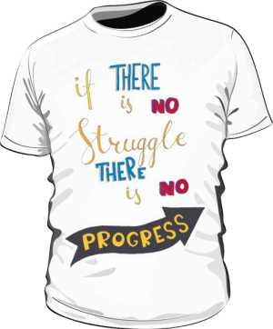 Struggle and progres basic biała