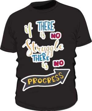 Struggle and progres basic czarna