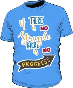 Struggle and progres basic niebieska