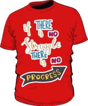 Struggle and progres basic czerwona