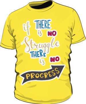 Struggle and progres basic żółta