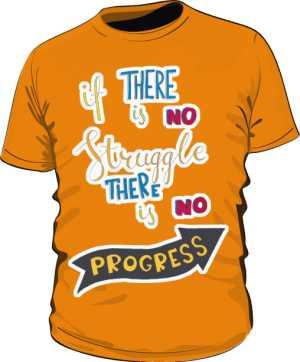 Struggle and progres basic pomarańczowa