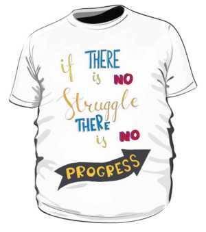 Struggle and progres plus biała