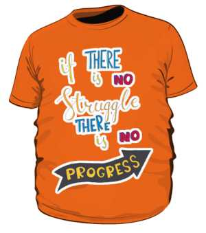 Struggle and progres plus pomarańczowa