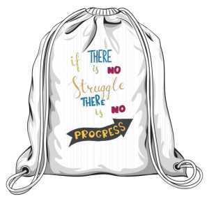 Struggle and progres plecak biały
