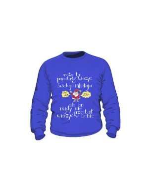 Santa believer bluza kids niebieski