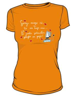Iron on fire koszulka basic pomarańcz