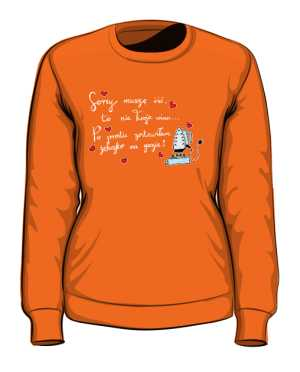 Iron on fire bluza pomarańczowa