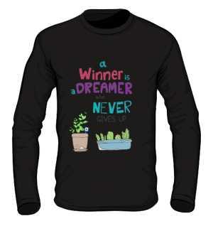 Winner dreamer longsleeve czarny