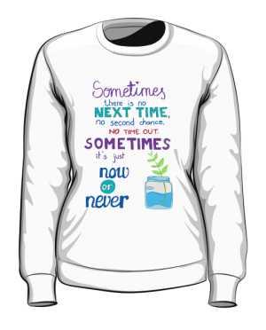 Now or never bluza biała