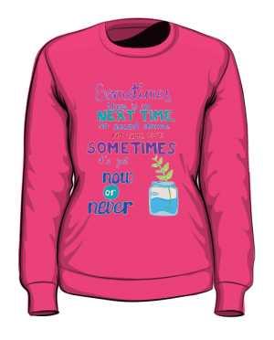 Now or never bluza różowa