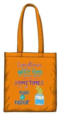 Now or never torba pomarańczowa
