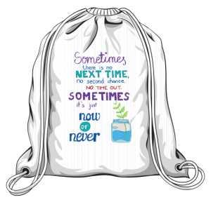 Now or never plecak biały