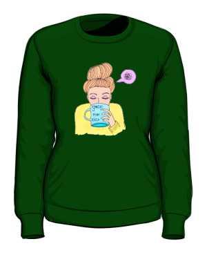 Mam kaca bluza zielona