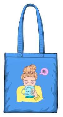 Mam kaca torba niebieska