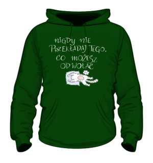 Odwołaj bluza z kapturem zielony