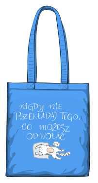 Odwołaj torba niebieska